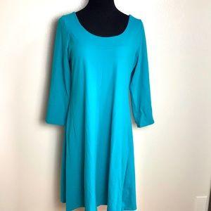 TravelSmith turquoise dress